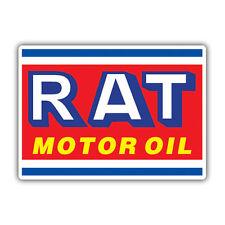 RAT motor oil sticker / decal 110mm wide ratlook vw hotrod