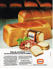 PUBLICITE ADVERTISING 024   1981   DUROI   pain de mie