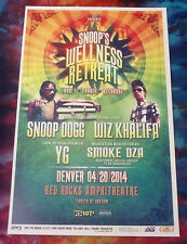 SNOOP DOGG & WIZ KHALIFA Cannabis Cup 4-20 Red Rocks 11x17 Show Flyer / Poster
