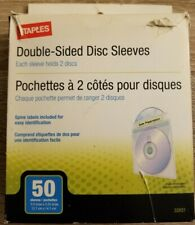 Staples CD/DVD Double Sided Disc Sleeves 50/Pack Open Box Read Description