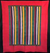 Antique 1890 Mennonite Joseph's Coat Quilt