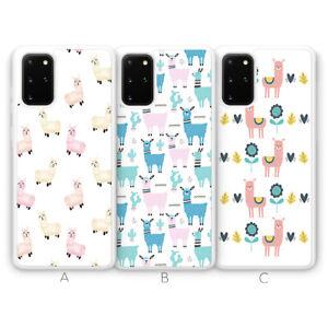 For Samsung S21 Plus Ultra S20 FE S10 S9 Phone Case Llama Alpaca Animal Cute