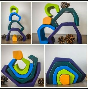 Montessori Large Wooden cave stacker toy CE certified