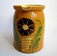 Ancien Pot a Lait Soufflenheim 20 cm Poterie Alsace France Vintage Début XX e