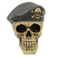 New Beret Guy Skull Skeleton Figurine Sculpture