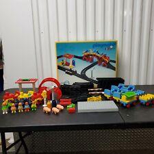 VTG Playmobil 123 6905 Set Train Station w/ Original Box and Extras