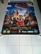 AFFICHE THE LEGO MOVIE  4x6 ft Bus Shelter Original Movie Poster 2014