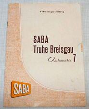 Original Bedienungsanleitung – Saba Breisgau Automatic 7 - Musiktruhe