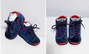 BABY BABYBOTTE MADE IN FRANCE SUEDE LEATHEER WALKING BOOTIES $125 EUR-19 / US-4