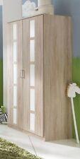 Kleiderschrank Bambi, 2 trg. Eiche Nachb, Absetzung Weiß