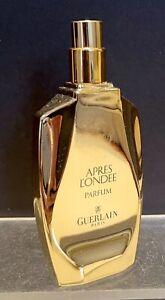 "RARE VINTAGE GUERLAIN ""APRES L'ONDEE"" 1 FL OZ.30ML PERFUME GOLD BOTTLE 1906"