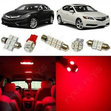 12x Red LED Interior Lights Package Kit for 2013-2018 Acura ILX +Tool AX1R