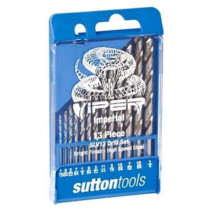 13 Piece DRILL SET Viper Imperial for Metal Wood & Plastic SLV 13