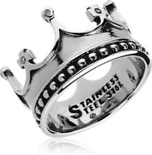 NEW Surgical Steel Ring Crown 22mm Aussie Seller Free Delivery