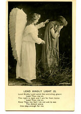 Young Girl Angel Comforts Sad Lady-Poem Verse-RPPC-Vintage Real Photo Postcard
