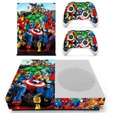 Xbox one S Slim Console Skin Marvel Super Heroes Avengers Vinyl Stickers Decals