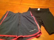 Lot of 2 Pairs Women's Champion and Brooks Athletic Shorts Size XS/S