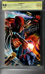 DEADPOOL #1 VIRGIN EXCLUSIVE SIGNED BY GREG HORN MARVEL 9.8 CBCS NOT CGC