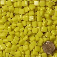 8mm Mosaic Glass Tiles - 2 Ounces About 87 Tiles - Cad Deep Yellow