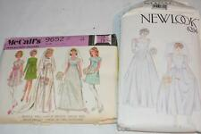 Lot 2 Vintage McCall New Look Sewing Pattern 6204 & 9652 WEDDING Dress