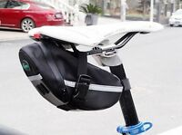 Waterproof Cycling Bicycle Bike Outdoor Saddle Pouch Back Seat Bag Black