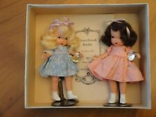 Nancy Ann Storybook #84 Twin Sisters With Gold Wrist Tags. Box And Nasb Stands.