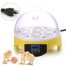 7 Eier Vollautomatische Inkubator Brutmaschine Brutapparat Flächenbrüter Brüter