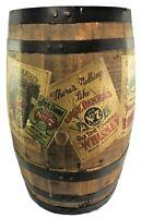 Vintage Jack Daniels Past Labels Mini Barrel Store Display Man Cave Fathers Day
