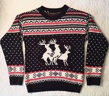 Funny UGLY CHRISTMAS SWEATER Reindeer Xmas Santa Knit Jumper Men Women Unisex XL