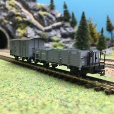 2 wagons couvert tombereau Rü.k.B Ep I-HOe 1/87-ROCO 34559