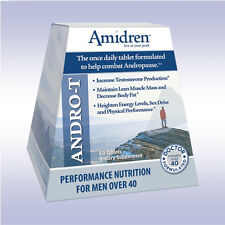 AMIDREN ANDRO-T (60 TABLETS) boost testosterone, lose fat mhp once daily formula