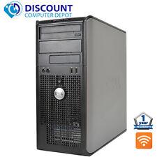 "Rápido Dell Optiplex Windows 10 Computadora De Escritorio Torre C2D 4 GB DVD Wifi 17"" LCD"