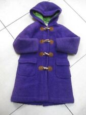 Girls boys kids MINI BODEN wool purple DUFFLE COAT age 7 8 years paddington