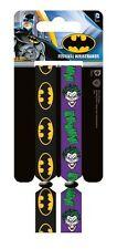 DC Comics Batman Joker Pack Of 2 Fabric Festival Wristbands BY PYRAMID FWR680017
