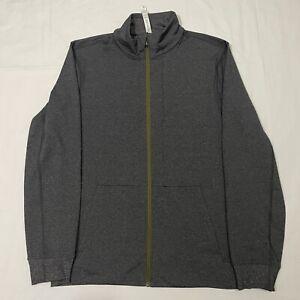 LULULEMON Sojourn Full Zip Graphite Gray Zip Pockets Activewear Casual Jacket XL