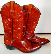 """Vintage Acme Mens Western Cowboy Boots Size.8 D Light Brown 12"""" Tall Made USA"""