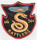 WARTIME US ARMY 101ST 501ST RATTLERS PATCH HELICOPTER AVIATION (178)