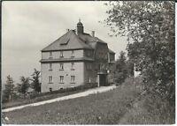 Ansichtskarte Hotel Bahnschlößchen Bernsbach/Erzgebirge - schwarz/weiß