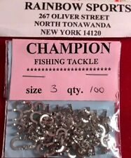 100 Worm Harness Spinner & Jewelry Folded Clevise Size 3 Nickel Clevises