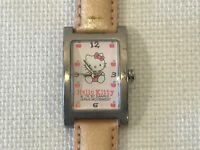 Rare Vintage Sanrio Hello Kitty Pink Apple Watch, 1997, NEW BATTERY, w/ case