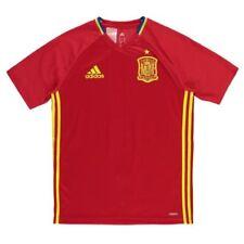 Camisetas de fútbol de clubes españoles de manga corta en rojo