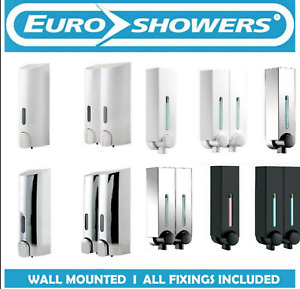 TALL, MINI CHIC or SMART Wall Mounted Soap Shower Gel Shampoo Dispenser Pump