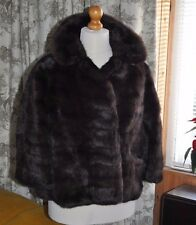 Vintage 50/60's Bespoke Brown Real Fur Jacket-Stanley Rich Cinc Ohio ?Mink/Sable