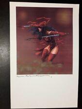Bill Sienkiewicz print signed Elektra FIRMATA / SIGNED