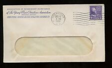 US Organization Advertising Cover (Assoc of Membership Secretaries YMCA) 1950