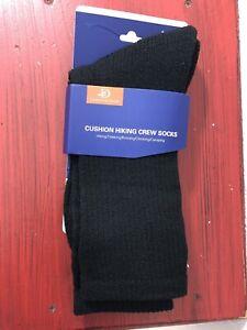 Hiking Socks by Landunciaga Unisex Cushioned Wool Blend Winter Trekking Black