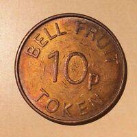 Bell Fruit Token 10 p Amusement  Gaming Token