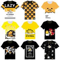Gudetama Lazy Egg T-Shirt Short Sleeve Crew Neck Men Women Summer Sports Tee
