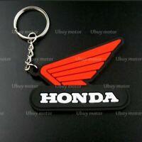 Llavero de moto Honda, silicona, Llaveros, Keyring, Keychain, Honda Keyring