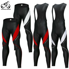 Mens Cycling Pants MTB Bike Bib long Tights Padded Warmer Trousers Underwear